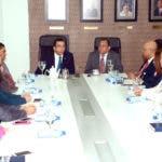 Andrés Navarro durante la reunión con autoridades de Inafocam/Fuente externa.