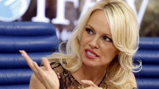 Pamela Anderson pide a Francia que acoja a Julian Assange