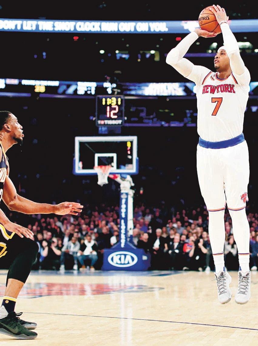 CARMELO Lidera ataque de los Knicks