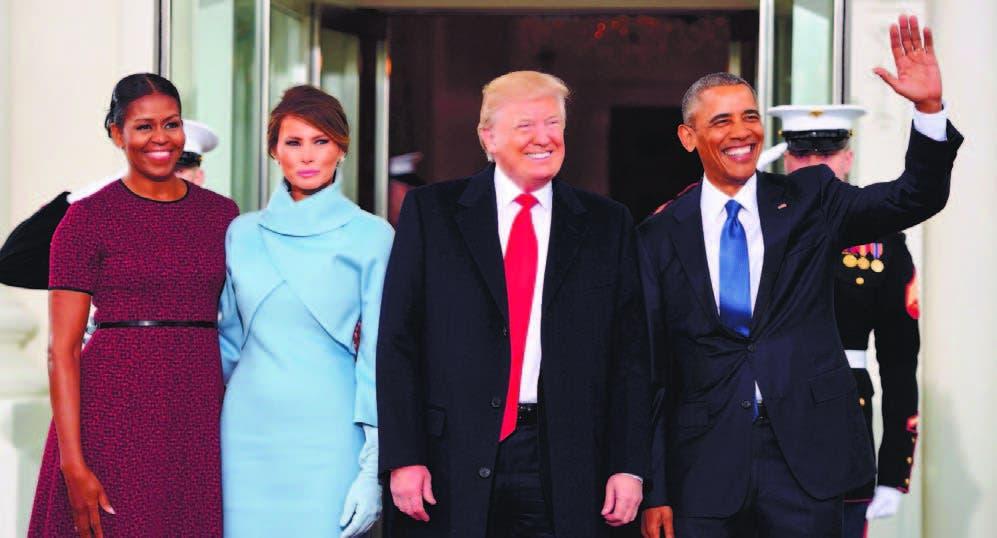 Imágenes y anécdotas de la llegada de los Trump a la Casa Blanca