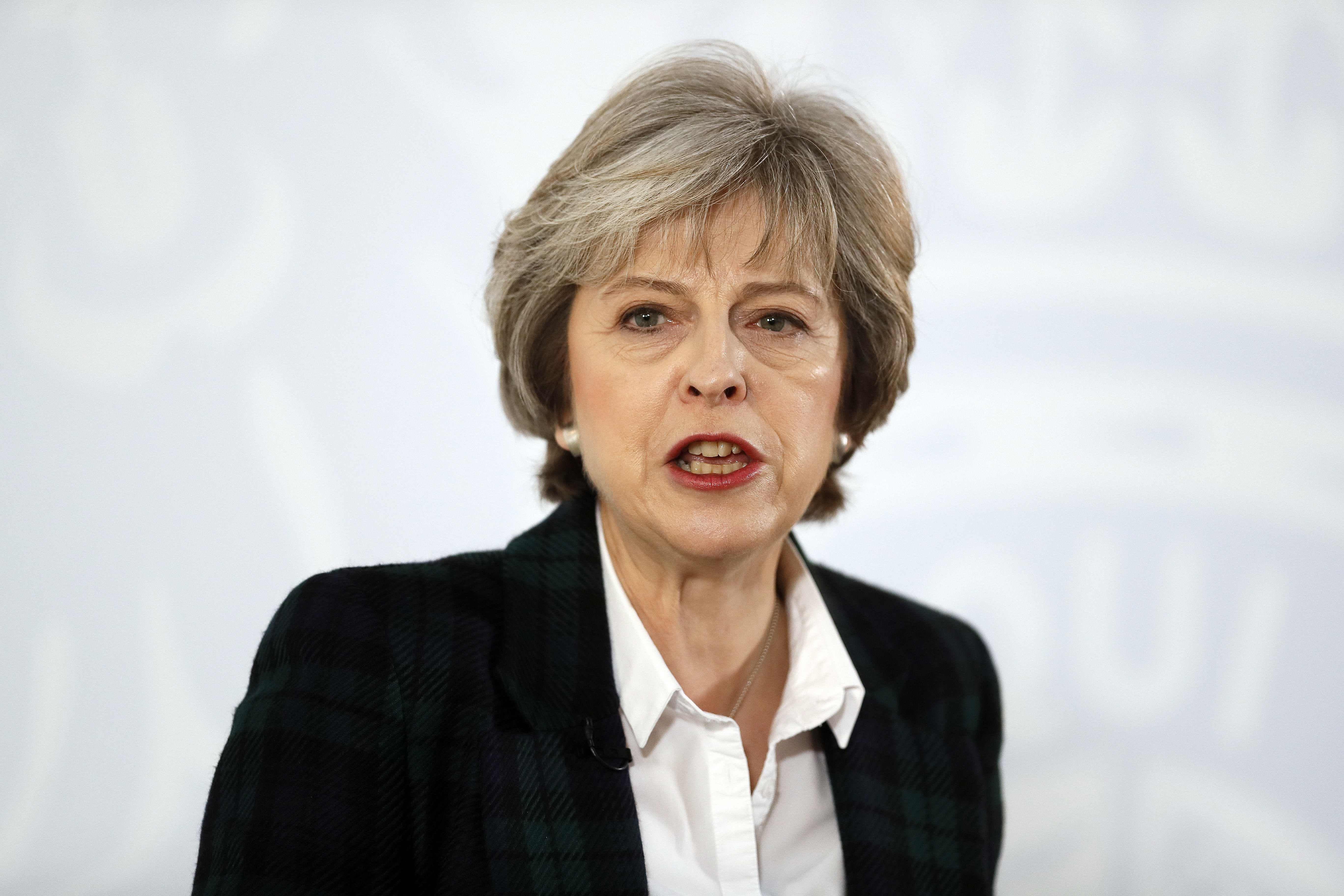 Theresa May . AFP.