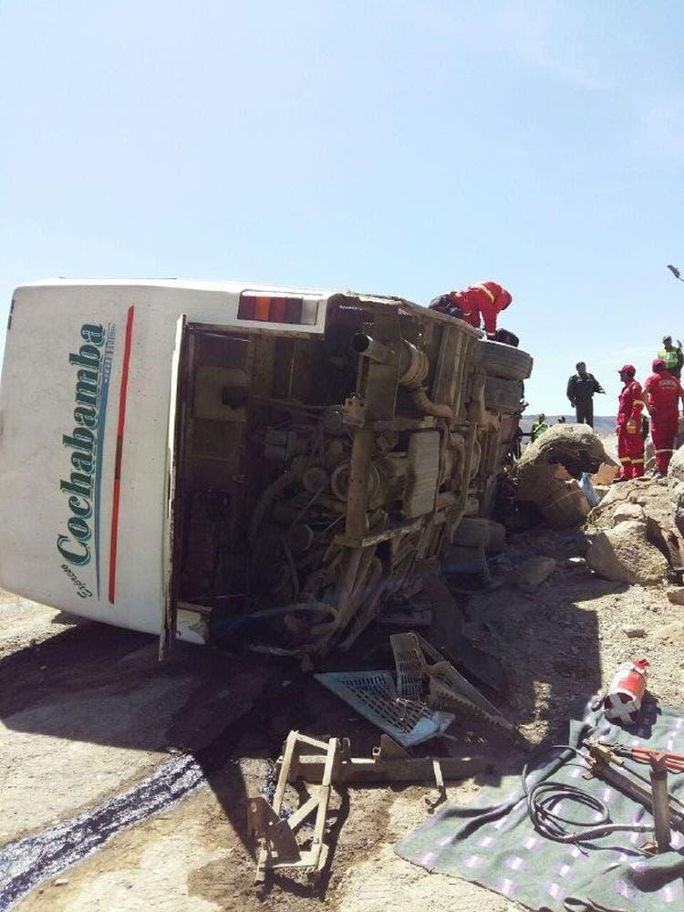 El vehículo volcó sobre la valla de protección metálica que actuó como una cuchilla sobre la carrocería, explicó Lafuente.Fuente externa.