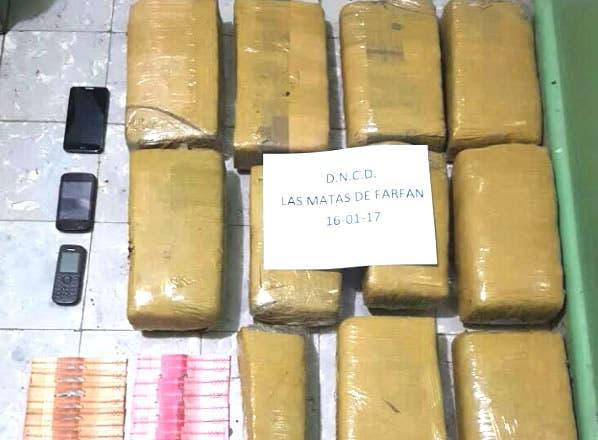 Agentes de la DNCD incautan 11 paquetes de droga en San Juan