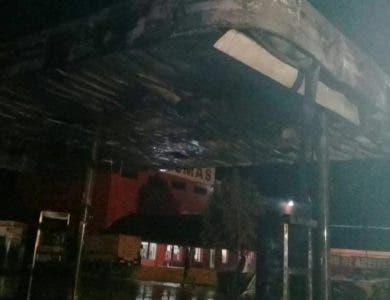 Se incendia envasadora de gas en Puerto Plata