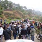 Agricultores protestan en  Constanza por militarización de Valle Nuevo. Fuente externa 13/01/2017
