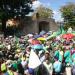 Marcha contra la corrupción y la impunidad, el pueblo quiere justicia e someter a los corrupto político y estafadores del pueblo. En foto : el pueblo : Hoy Duany Nuñez 22-1-2017