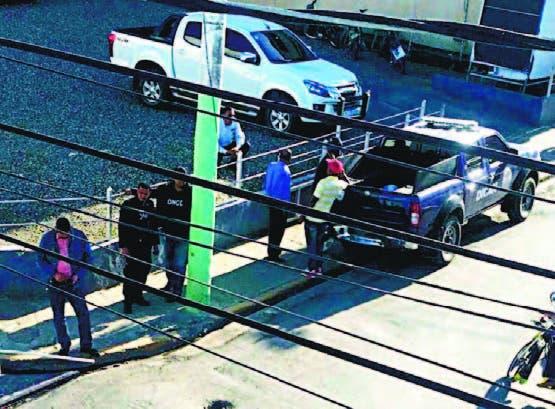 Un contingente policial estaba apostado frenta a la entidad