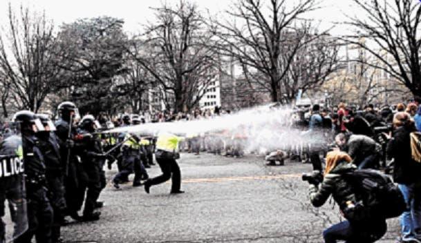 Protestas violentas acompañan investidura presidencial Trump
