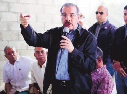 Presidente Medina define de penosa situación de montaña
