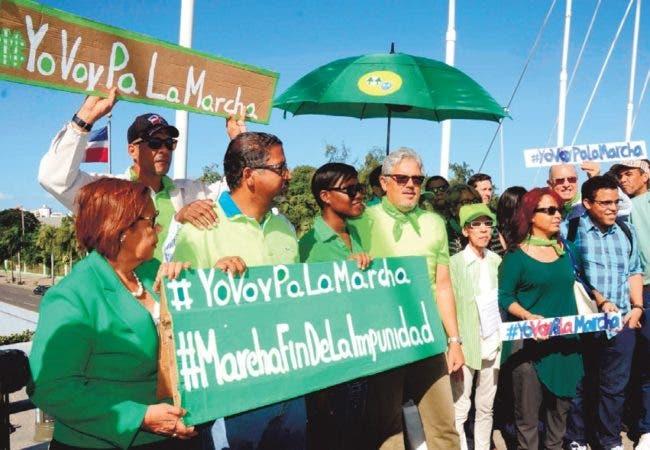Promotores de la Marcha FIn de la Impunidad caminarán el próximo domingo  22 contra la impunidad y la corrupción. Pedro Sosa