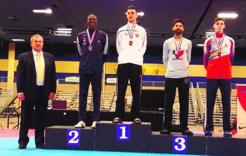 Luis Pie gana plata en Abierto Taekwondo de Estados Unidos