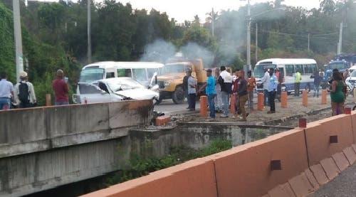 Foto del accidente de la 6 de Noviembre .Publicada en twitter por @Miguekse.