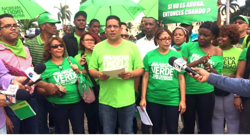 """El colectivo rechazó los intentos de Medina de legitimar el """" acuerdo de impunidad"""" gestionado por el Procurador/Foto: Marcha Verde."""