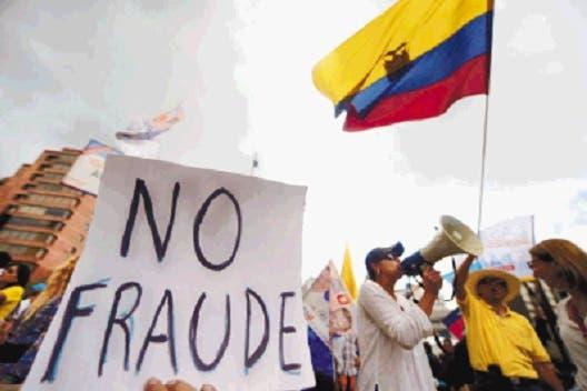 Ecuatorianos preocupados por resultados elecciones