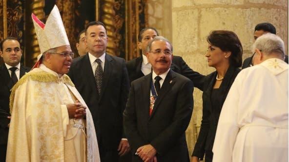 El Te Deum fue oficiado por el arzobispo metropolitano de Santo Domingo, Francisco Ozoria Acosta/Foto: PresidenciaRD