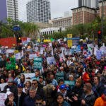 PROTESTA CONTRA LAS REDADAS Y POLÍTICAS ANTI INMIGRANTES EN EEUU