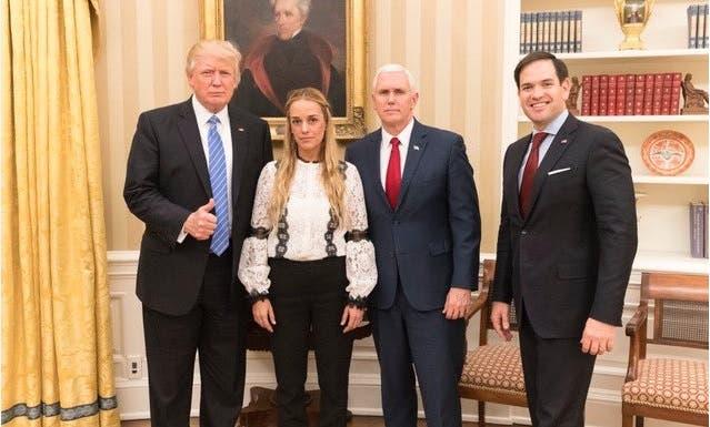 Trump y Tintori