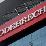 FILE PHOTO - A sign of the Odebrecht SA construction conglomerate is pictured in Lima
