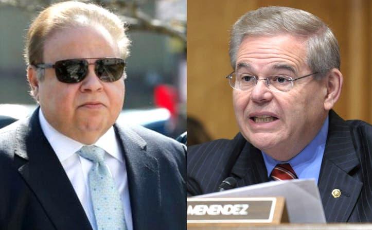 El oftalmólogo de Florida, Salomon Melgen (iz) y el senador Bob Menendez/Foto: Fuente externa.