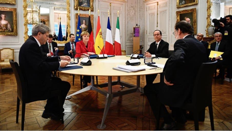 París, Berlín, Madrid y Roma abogan por una Europa a varias velocidades