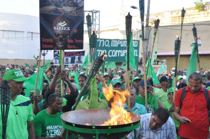Marcha Verde (Llama Verde del fin de la Impunidad) Lugar: Parque Independencia. Fecha: 19-3-17 Foto: José Andrés De los Santos.