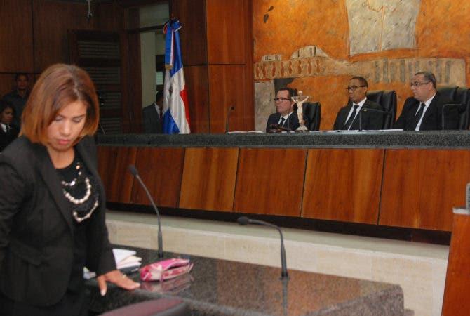 Awilda Reyes Beltré, en la sala de juicio en la Suprema Corte de Justicia. Hoy/ Aracelis Mena. 27/03/2017