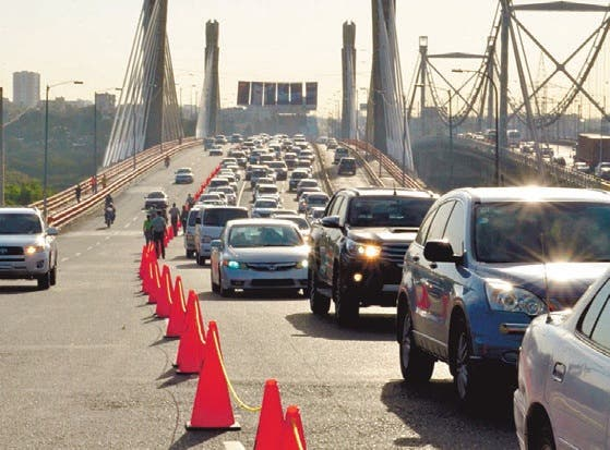 Conozca las rutas alternas debido al cierre del puente Juan Bosch