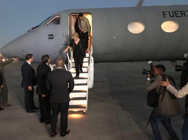 La presidenta Michelle Bachelet llegó hoy a Haití.
