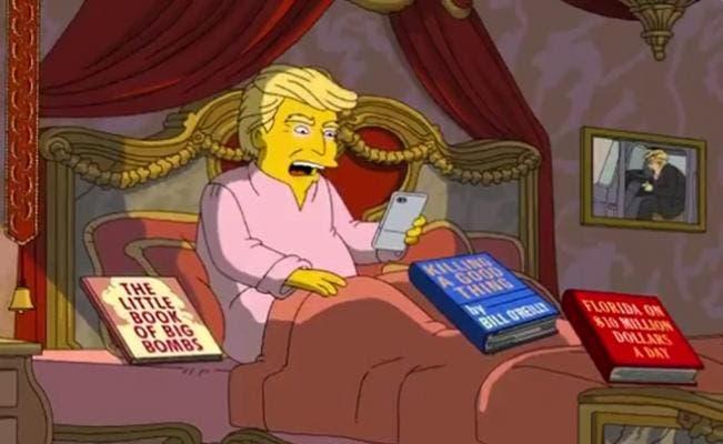 «Los Simpson» bromea sobre los primeros 100 días de Trump