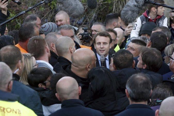 Macron dice que Le Pen es