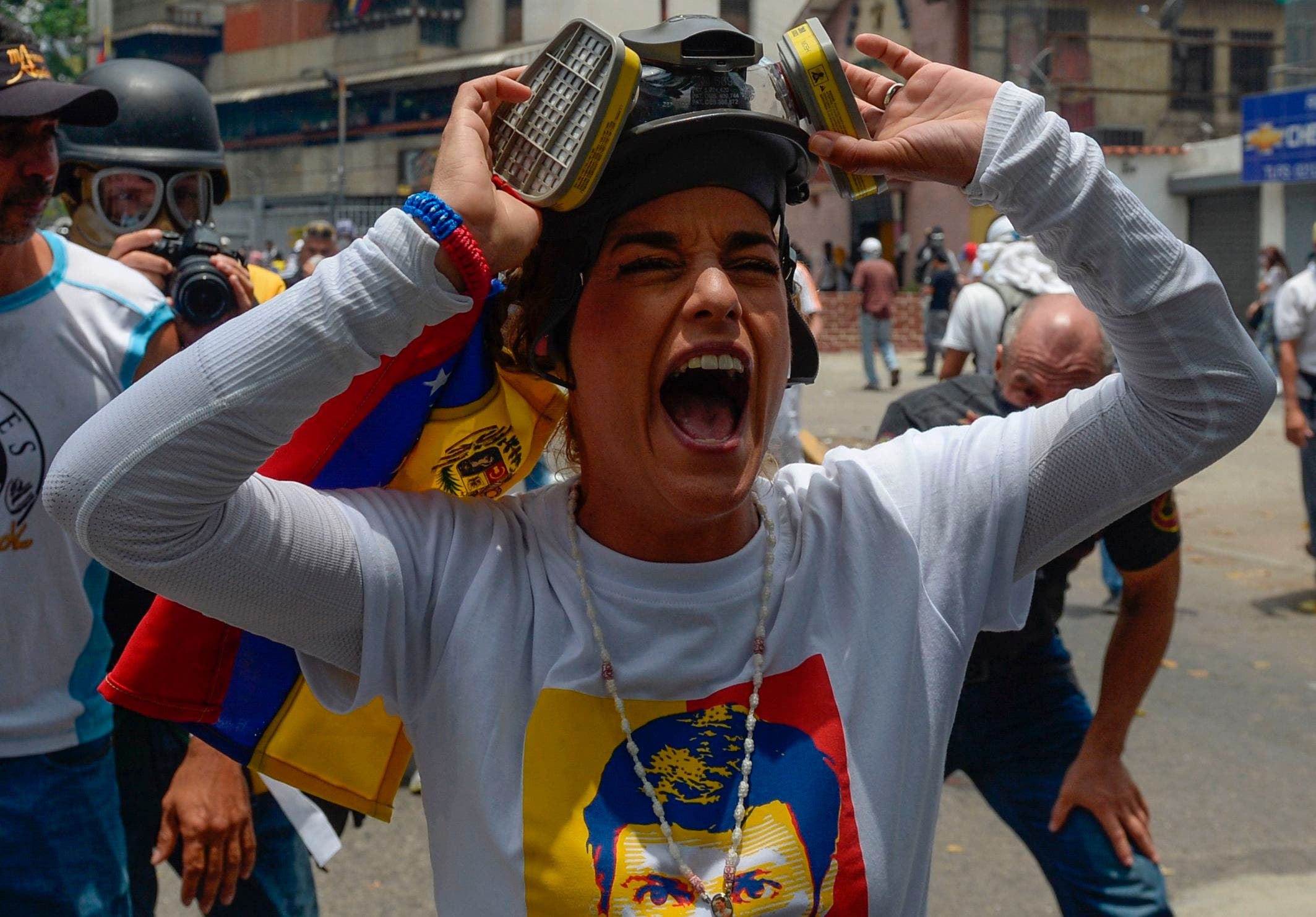 Lilian Tintori, esposa del encarcelado lider de la oposición, Leopoldo Lopez