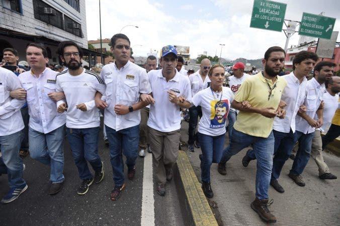 La oposición venezolana anunció una