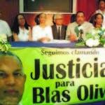 El CDP y la familia de Blas Olivo exigieron justicia en el caso.