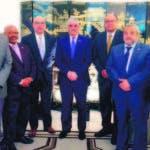 El canciller Vargas, el embajador Aníbal de Castro y los cónsules.