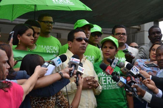 Representantes de Marcha Verde.