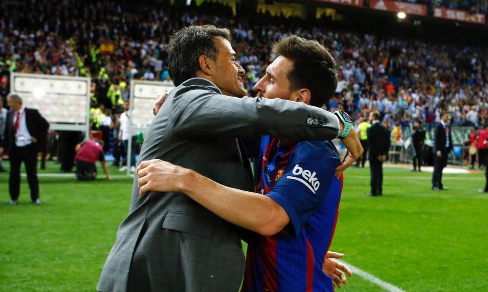Messi se despide de Luis Enrique deseándole «toda la suerte»