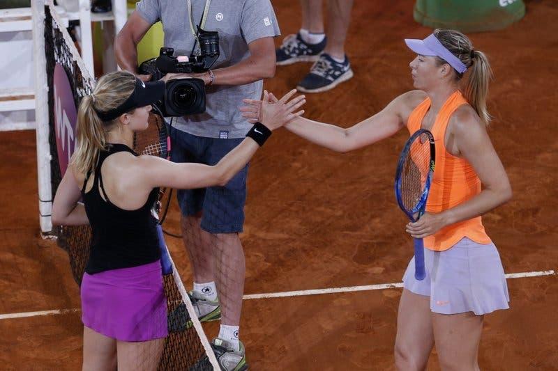 Tras llamarla «tramposa», Bouchard vence a Sharapova