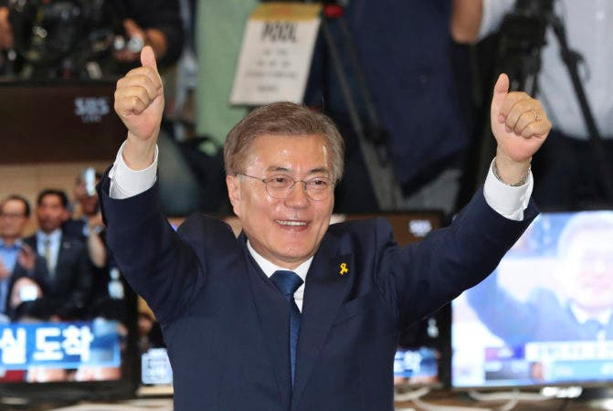 Moon Jae-in .