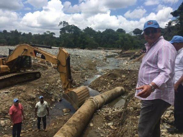 Director de la CAASD, Alejandro Montás anunció operación de acueducto Isa-Mana/Foto: cortesía de la CAASD.