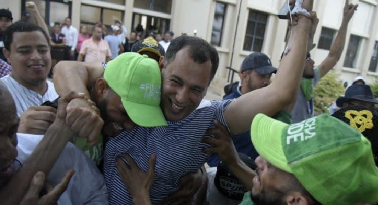 Juan Comprés tras su liberación/Foto: Fuente externa.