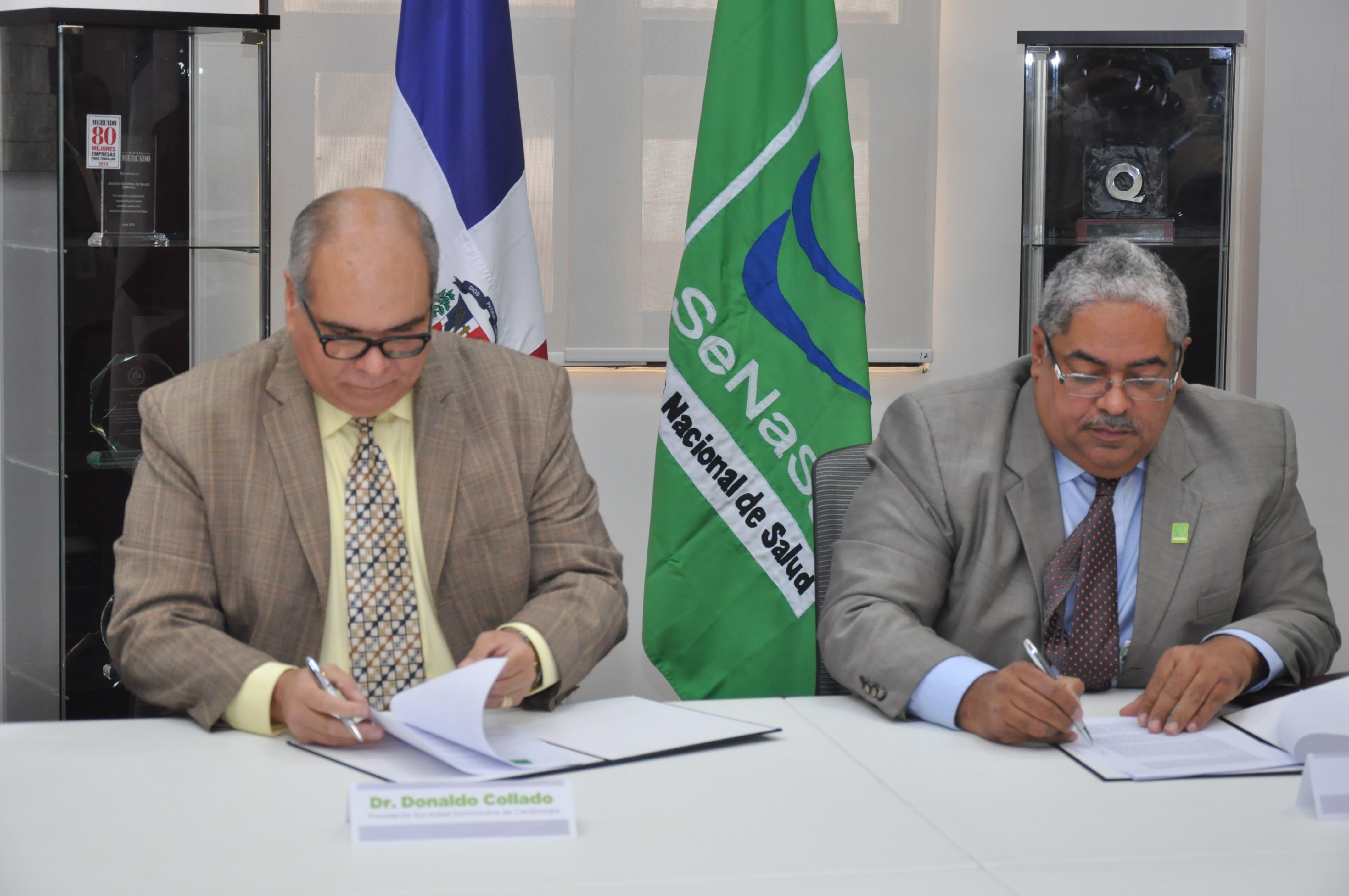 El convenio fue presentado a la prensa en la sede de SeNaSa, por los señores firmantes Chanel Rosa Chupany, director ejecutivo de SeNaSa, y Donaldo Collado Damirón, presidente de SODOCARDIO.