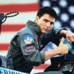 El actor estadounidense Tom Cruise  en Top Gun.