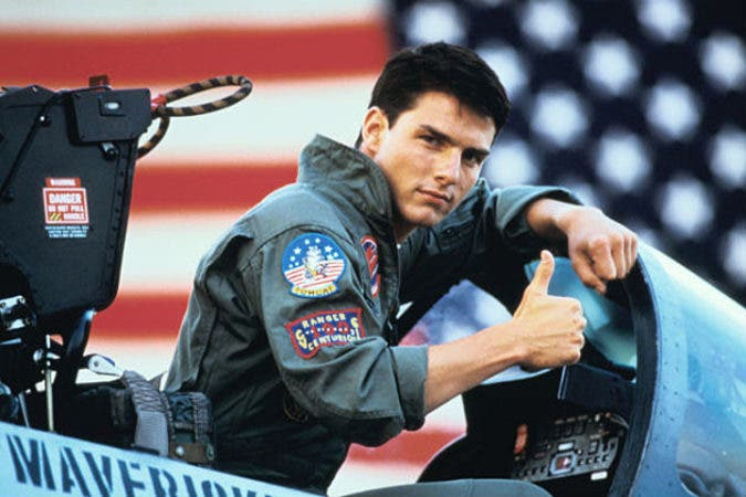 El actor estadounidense Tom Cruise  en Top Gun.