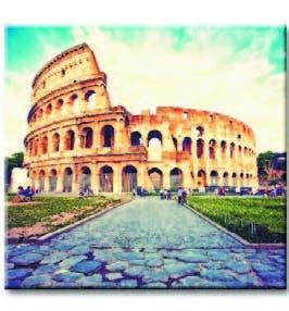 Con carritos de bebé  vacíos protestan  frente al Coliseo de Roma