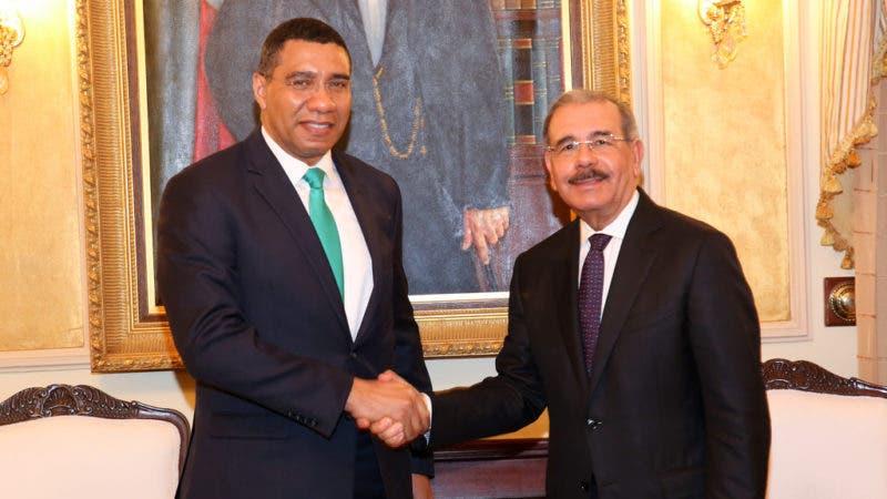 Presidente Danilo Medina recibe al primer ministro de Jamaica