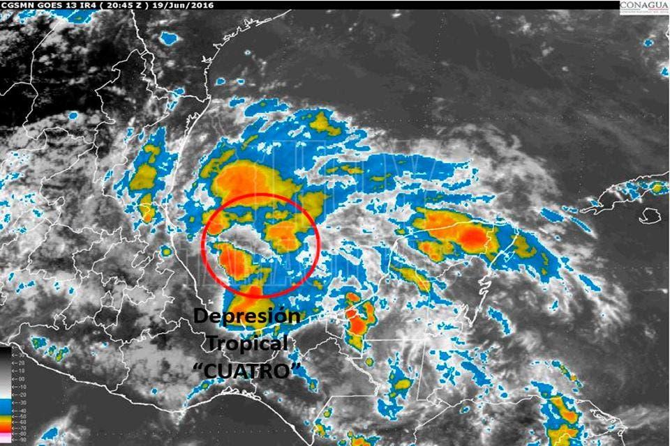 Se forma depresión tropical se dirige a México