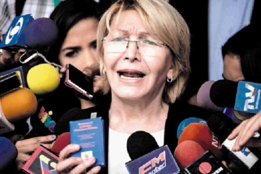 La fiscal afirma que se mantendrá en el cargo, aun si se ordena su destitución/Foto: Fuente externa.