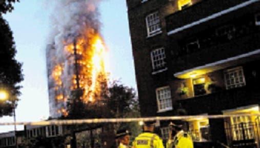 Descartan acto de terrorismo en incendio en torre londinense 15/Jun/2017 Internacional