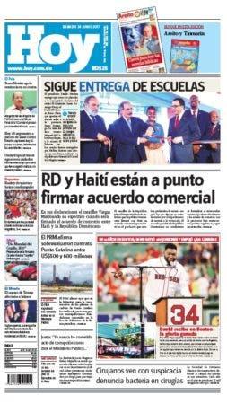 Edición impresa HOY sábado 24 de junio del 2017