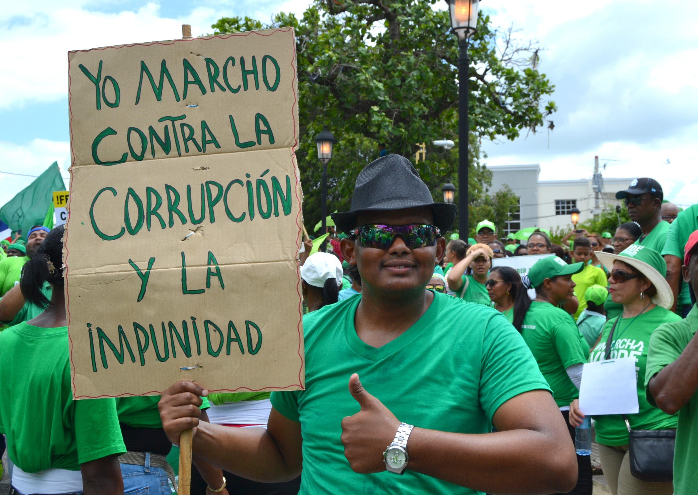 Manifestación en República Dominicana contra la corrupción